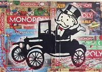 monopoly train (gumball) by alec monopoly