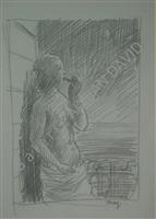 femme à la pipe by rené magritte