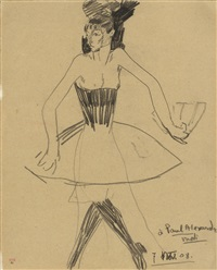 colombine with tutu by amedeo modigliani