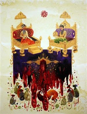 untitled (from throne) by shiva ahmadi