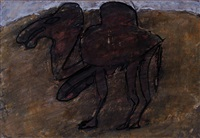 chameau entravé au désert by jean dubuffet