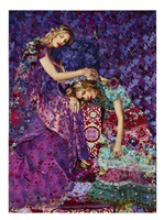 purple dream (sleeping beauty series) by nina surel