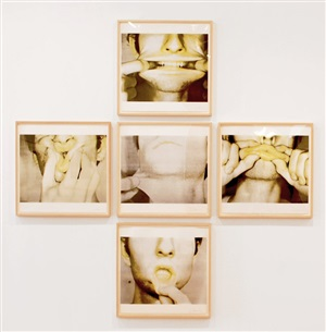 studies for holograms by bruce nauman
