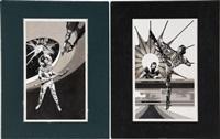 three aliens - destinies 5, book illustration (3 works) by steve fabian