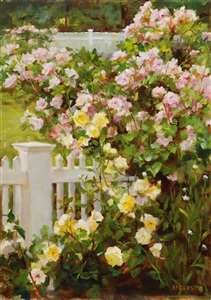 roses at the shore (sold) by kathy anderson