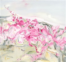peach blossoms no.1 by cheng xiaoguang