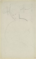 woman with a dog (verso) by amedeo modigliani
