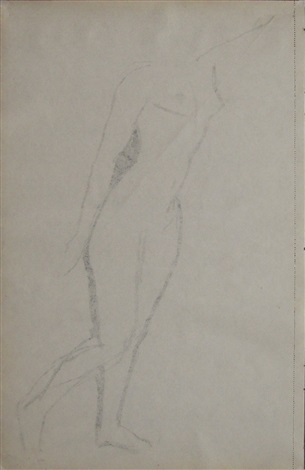 standing nude (verso) by amedeo modigliani