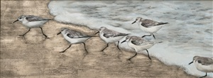 sandpipers (sold) by anne mcgrory