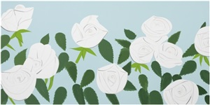white roses by alex katz