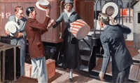 meeting the train by august bleser jr.