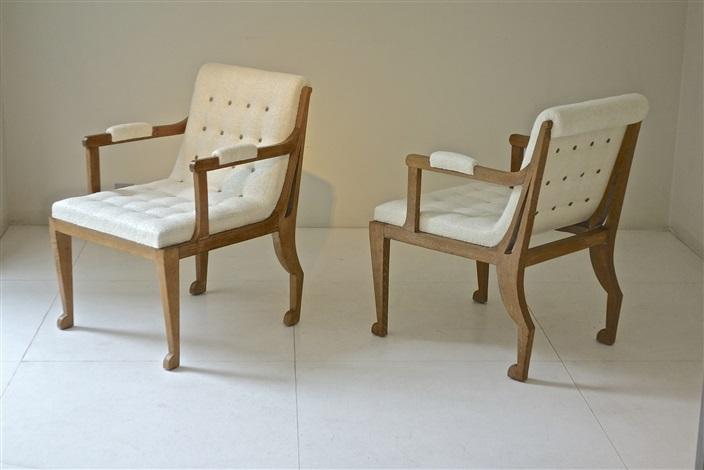 paire de fauteuils by marc du plantier