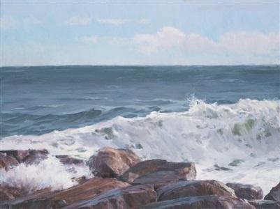 ocean wave by karen blackwood