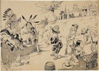 trading with the indians by l.m. glackens