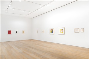 group show: paintings on paper, 2014, exhibition view