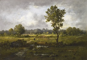 outskirts of the village by léon richet