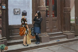 two girls on greene street (sold) by vincent giarrano