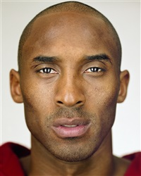 kobe bryant, close up by martin schoeller