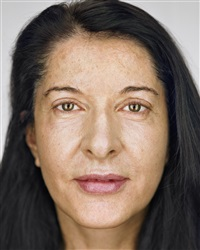 marina abramovic, close up by martin schoeller