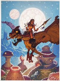pixie flight, illustration for a proposed poster by greg hildebrandt