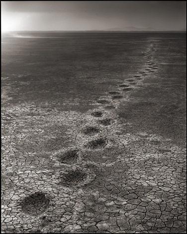 elephant footprints, amboseli by nick brandt