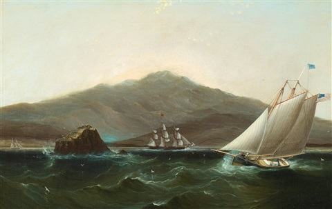 american frigate in a storm by james edward buttersworth