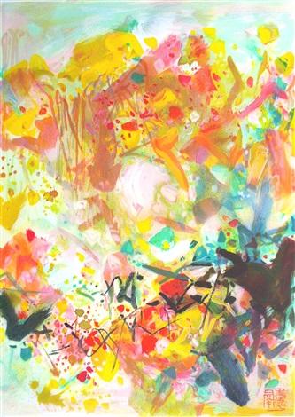 stormy ink - 1 - yellow fall by chu teh-chun