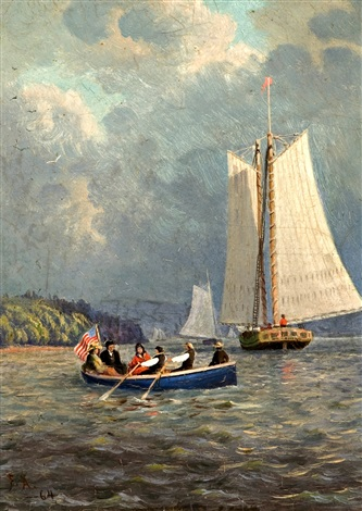 hudson river outing by frank anderson