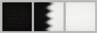 fading gray triptych #2 (black into white) by carmen vetter