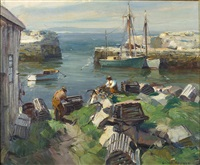 landsville cove, ma. (pigeon cove) by emile albert gruppe