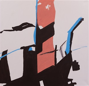 dialogue with blue border by koen van den broek