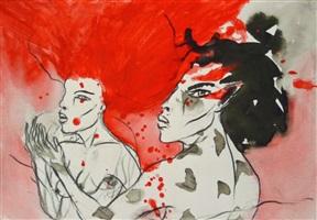 paar (rot - schwarz) by angela hampel