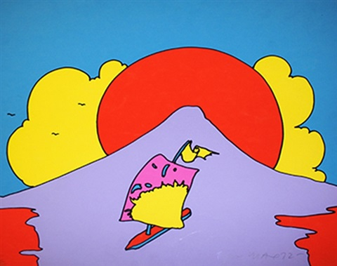floating in peace by peter max