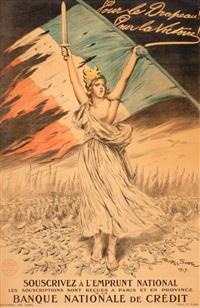 pour le drapeau! pour la victoire! souscrivez a l'emprunt national by george bertin scott