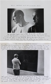 self-portrait with my guardian angel (+ the man who invented himself; 2 works) by duane michals
