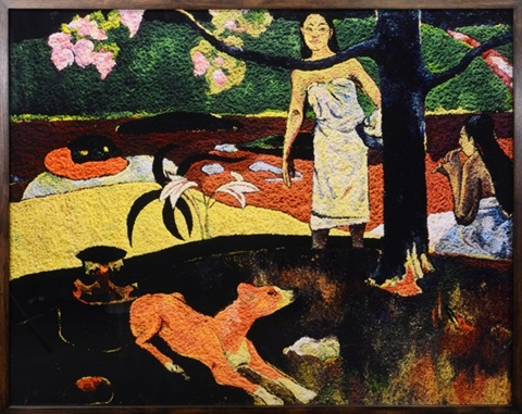 pastorales tahitiennes after paul gauguin by vik muniz