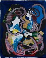 the kiss by karel appel