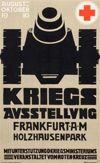 kriegs ausstellung frankfurt a.m. holzhausenpark by otto linnemann