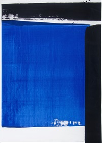 sérigraphie no. 16 by pierre soulages
