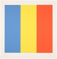 blue yellow red (blau gelb rot) by ellsworth kelly
