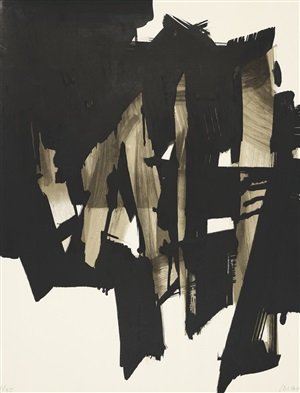 lithographie no. 15 by pierre soulages