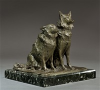 the artist's dogs by prince paolo troubetzkoy