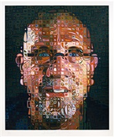 self-portrait screenprint by chuck close