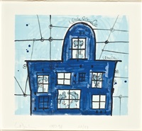 blue house by carroll dunham