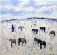 rapelje horses by theodore waddell
