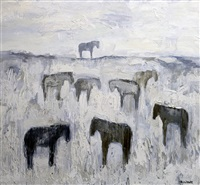 winter horses #4 by theodore waddell
