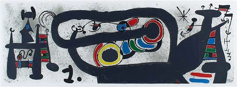 le lézard aux plumes d'or (the lizard with golden feathers) by joan miró