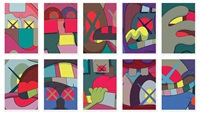 ups and downs (portfolio of 10 prints) by kaws