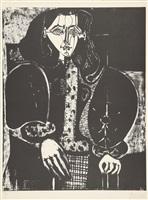 femme au fauteuil no. 1 / le manteau polonais (d'après le rouge) (frau im lehnstuhl nr. 1 / der polnische mantel) (nach dem rot) by pablo picasso
