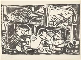 la mère et les enfants (die mutter und die kinder) by pablo picasso